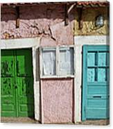 Old House Doors In Lisbon Canvas Print