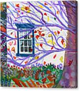 Old House In The Fall Canvas Print