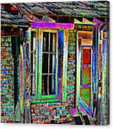 Old House Pop Art Canvas Print