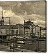 Old In Memory But Modern Copenhagen Canvas Print