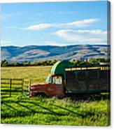 Old International Livestock Truck Canvas Print
