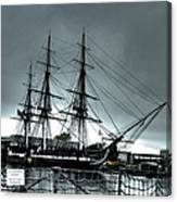 Old Ironsides Blue Tone Canvas Print