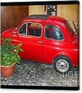 Old Italian Car Fiat 500  Canvas Print