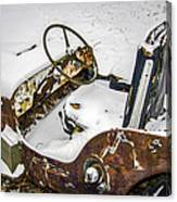 Old Jeep - New Snow Canvas Print