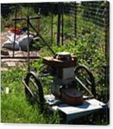 Vintage Lawn Mower Canvas Print