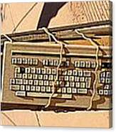 Old Key Boards Canvas Print