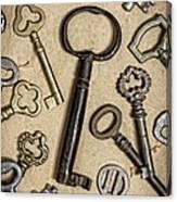 Old Keys Canvas Print