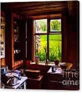 Old Kitchen Window Canvas Print