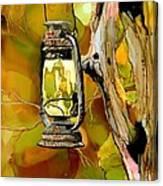 Old Lantern In Camo Canvas Print