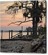 Old Lighthouse In Sunset Canvas Print