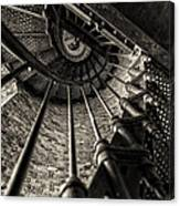 Old Lighthouse Stairway Canvas Print