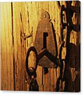 Old Lock And Key Canvas Print