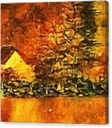 Old Log Cabin Canvas Print