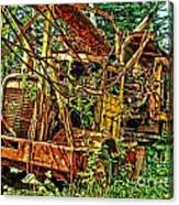 Old Logger-hdr Canvas Print
