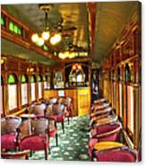 Old Lounge Car From Early Railroading Days Canvas Print