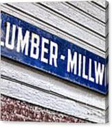 Old Lumberyard Sign Canvas Print