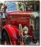 Old Mack Firetruck Canvas Print