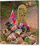 Old Man Clanton At Boot Hill Canvas Print