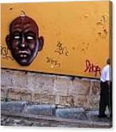 Old Man Graffiti Canvas Print