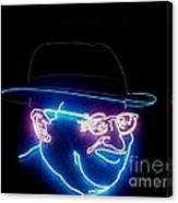 Old Man In Neon 2 Canvas Print