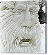 Old Man Winter Snow Sculpture Canvas Print