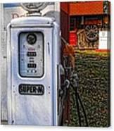 Old Marathon Gas Pump Canvas Print