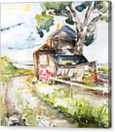 Old Mecklenburg Rail Station Nossentin Canvas Print