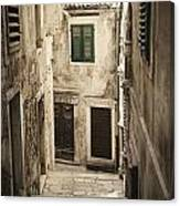 Old Medieval Alley Canvas Print