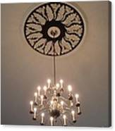 Old Meeting House Chandelier Canvas Print