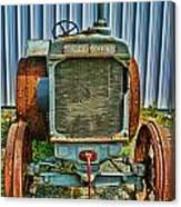 Old Metal Wheeled Tractor Hdr Canvas Print