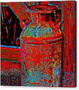 Old Milk Pail Pop Art Canvas Print