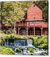 Old Mill And Waterfall Canvas Print