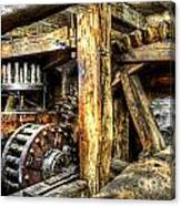 Old Mill Cogs Canvas Print