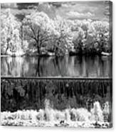 Old Mill Pond In Infrared Canvas Print