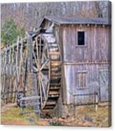 Old Mill Water Wheel And Sluce Canvas Print