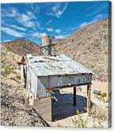 Old Mine On Old Toll Road In Death Valley Canvas Print