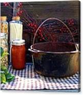 Old Miners Outdoor Kitchen Table Still Life Canvas Print