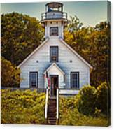 Old Mission Point Light House 02 Canvas Print