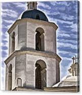 Old Mission San Luis Rey Tower - California Canvas Print