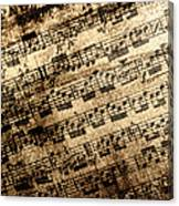 Old Music Canvas Print