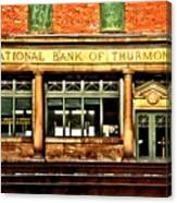 Old National Bank Of Thurmond Canvas Print