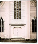 Old New England Gothic Church Canvas Print