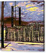 Old New Orleans Electric Plant Canvas Print