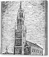Old North Church, 1775 Canvas Print