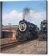Old Number 3254 Under Steam Canvas Print