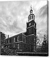 Old Otterbein Church In Black And White Canvas Print