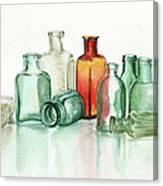 Old Pharmacys Glassware Canvas Print