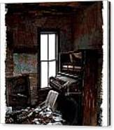 Old Piano Card Canvas Print