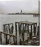 Old Pier In Siglufjordur Canvas Print