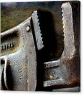 Old Pipe Wrench Canvas Print